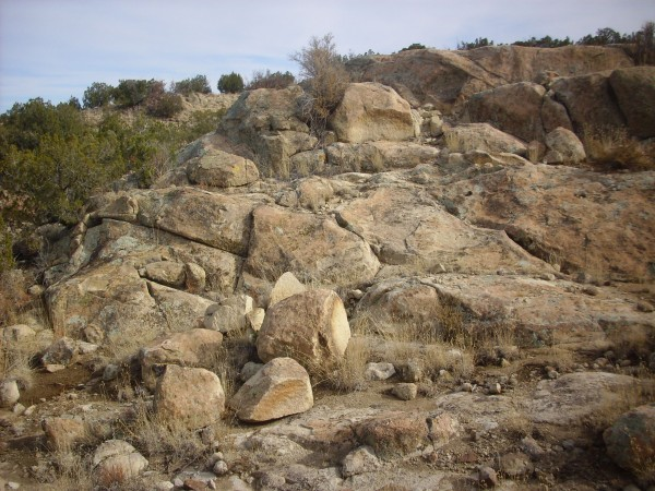 Monzonite outcrop