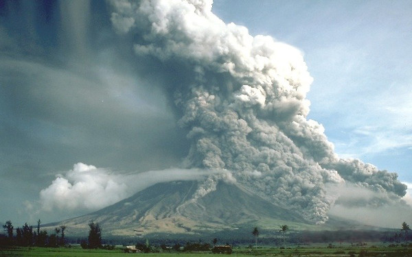 Pyroclastic flows at Mount Mayon