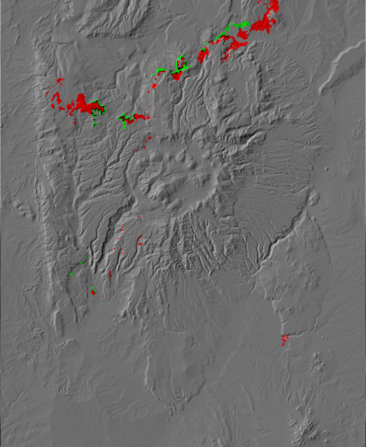 Digital relief map of Abiquiu and Ritito Formation         exposures in the Jemez Mountains