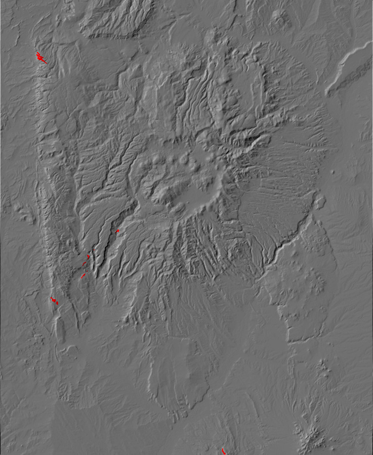 Map of Arroyo Penasco Group outcrops in the Jemez