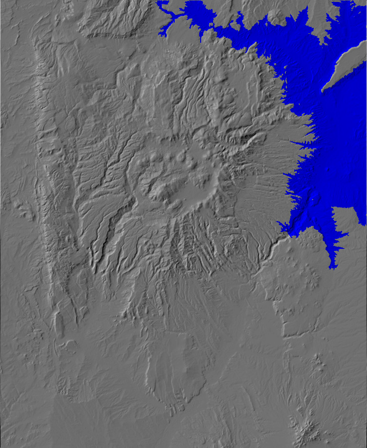Digital relief map of approximate extent of Culebra         Lake