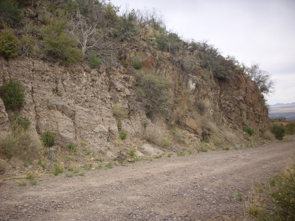 Cochiti Formation in           road cut