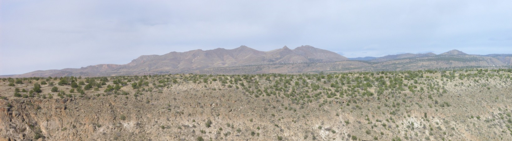 Panorama of San Miguel         Mountains from the east