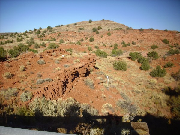 Gallisteo Formation on         I-25