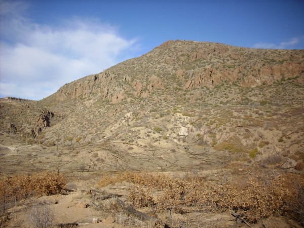 Fault escarpment west of Guaje Mountain