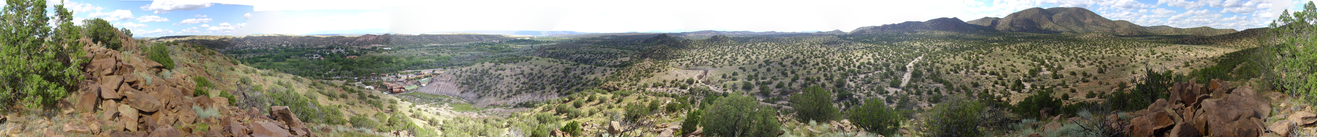 Panorama from         northwest of Ojo Caliente