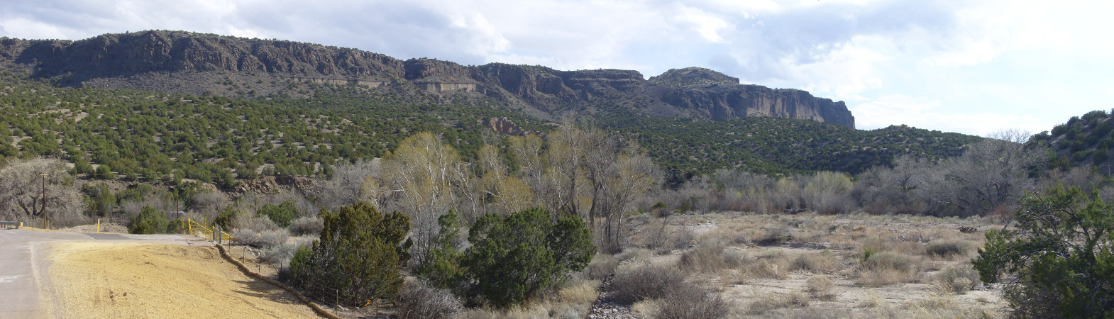 Panorama of           northern White Rock Canyon