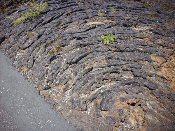 Pahoehoe lava at           Craters of the Moon, Idaho