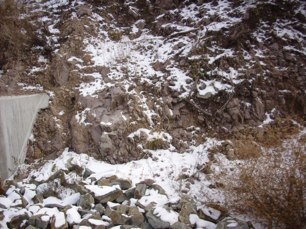 Paliza Canyon andesite at Los Alamos Reservoir