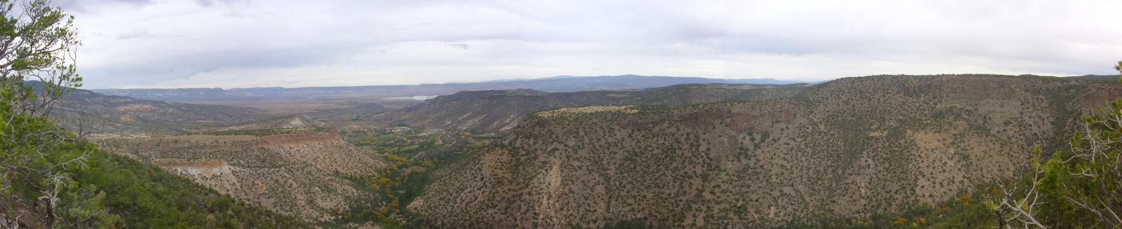 Canones area seen from Polvadera Mesa