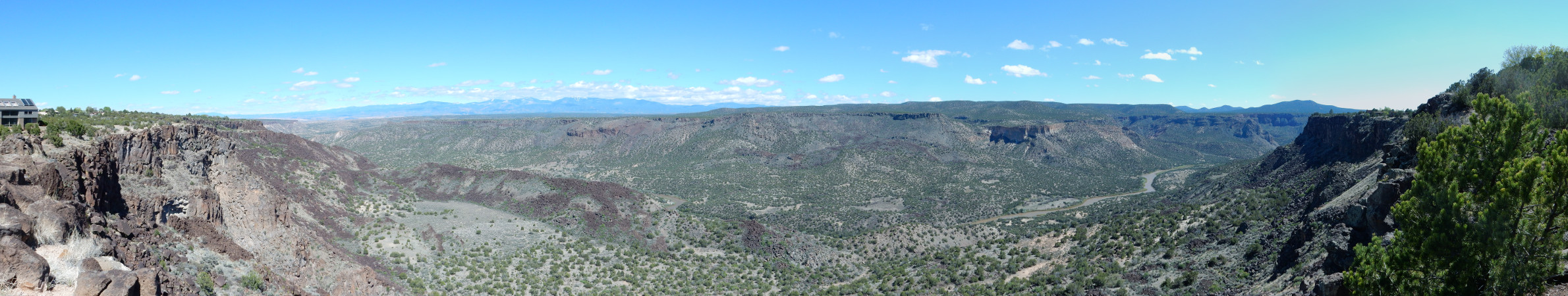 Panorama of               White Rock Canyon