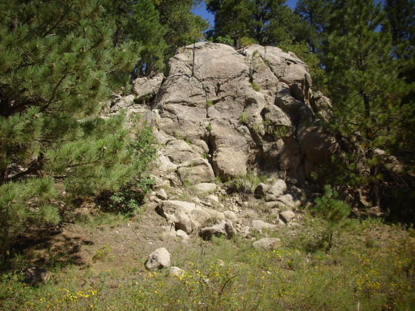 South         Mountain Rhyolite outcropping