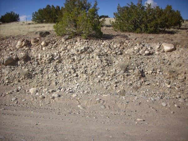 Terrace gravel along           Thirtyone Mile Road