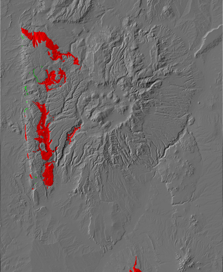 Paleotopography map of Madera Formation