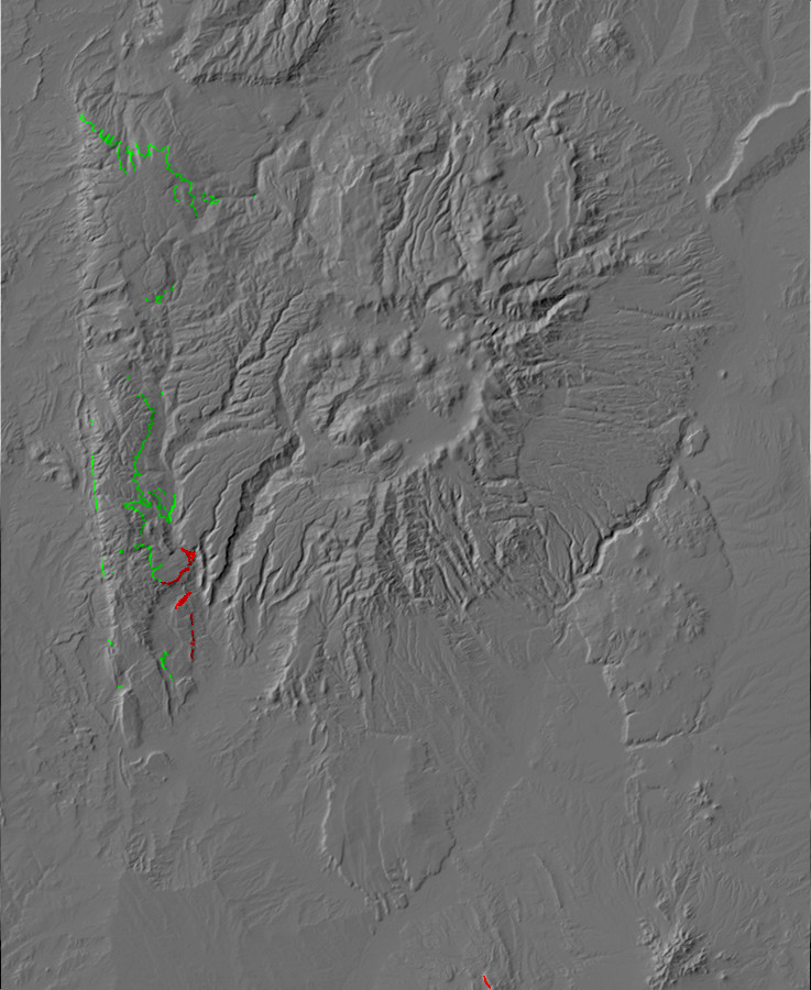 Paleotopographic of           Sandia Formation