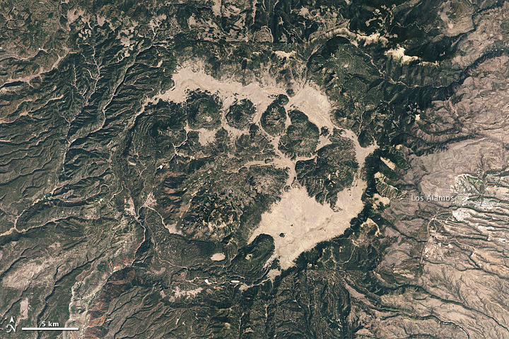 Valles Caldera from space